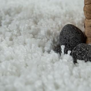 Hochflor Teppich Wohnzimmer Weiß Soft Weich Shaggy Robust Flauschig Kuschelig - Vorschau 3
