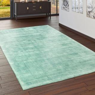 Teppich Handgefertigt Hochwertig 100 % Viskose Vintage Trend Farbe Pastell Grün