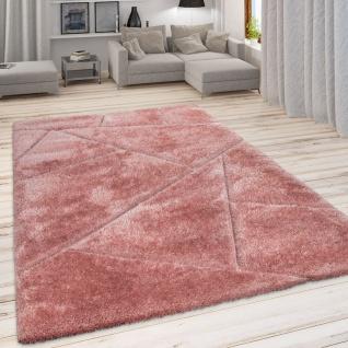 Hochflor Teppich, Kuscheliger Wohnzimmer Pastell Shaggy, 3D Muster m. Soft Garn - Vorschau 3