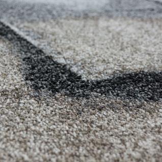 Designer Teppich Wohnzimmer Webteppich Geometrische Muster Webteppich Grau Creme - Vorschau 3