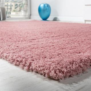 Shaggy Teppich Micro Polyester Wohnzimmer Teppiche Elegant Hochflor Pink - Vorschau 1
