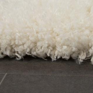 Hochflor Teppich Kuschelig Modern Shaggy Flokati Stil Gemütlich Uni In Weiß - Vorschau 2