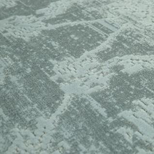 Hochwertiger Wohnzimmer Teppich Modern Satin Optik Barock Design Fransen Mintgrün - Vorschau 3