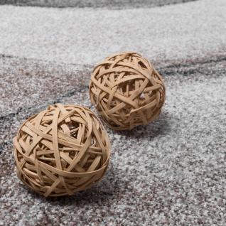 Teppich Meliert Webteppich Hochwertig Wellen Optik Meliert Grau Beige Creme - Vorschau 3