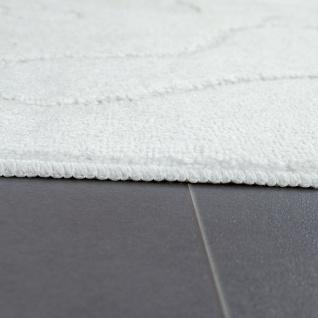 Moderner Badezimmer Teppich Rutschfest Badvorlerger Fußabdruck Einfarbig In Weiß - Vorschau 2