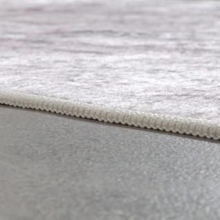 Designer Teppich Wohnzimmer Teppich Orient Bedruckt Bordüre Floral Pastell Beige - Vorschau 2