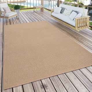 Outdoor Teppich Für Terrasse Und Balkon Küchenteppich Einfarbig Modern Beige