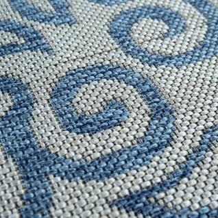 In- & Outdoor-Teppich, Für Balkon Und Terrasse Mit Orient-Muster, In Blau - Vorschau 3