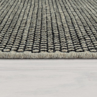 Handgewebter Teppich Flachgewebe Skandinavischer Look Meliert Webmuster In Grau - Vorschau 2