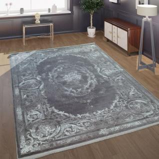 Wohnzimmer-Teppich Barock-Design Mit klassischen Vintage-Muster In Grau