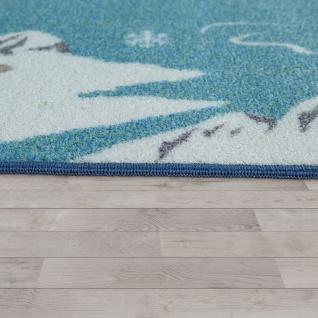 Kinder-Teppich Für Kinderzimmer, Spiel-Teppich, Weltkarte Mit Tieren, In Grün - Vorschau 2
