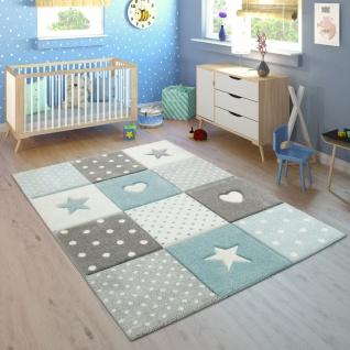 Kinderteppich Kinderzimmer Punkte Herzen Sterne Pastell versch. Farben u. Größen - Vorschau 5