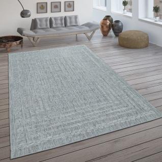 In- & Outdoor-Teppich, Flachgewebe Mit Skandi-Muster Und Sisal-Look In Hellgrau