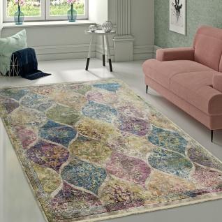 Designer Wohnzimmer Teppich Marokkanisches Muster Hochwertig Bunte Farben