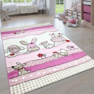 Kinderteppich, Moderner Kinderzimmer Pastell Teppich, Niedliche 3D Tiermotive - Vorschau 4