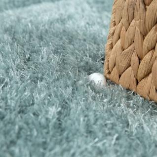 Hochflor Teppich Wohnzimmer Grün Weich Shaggy Flauschig Abstraktes 3-D Muster - Vorschau 3