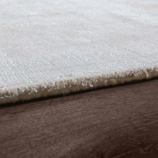 Teppich Handgefertigt Hochwertig 100 % Viskose Vintage Aufällig Meliert In Creme - Vorschau 2