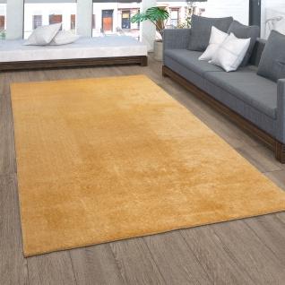 Teppich Wohnzimmer Kurzflor Waschbar Einfarbiger Moderner Stil Weich Gold Gelb