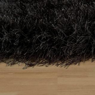 Moderner Wohnzimmer Shaggy Hochflor Teppich Soft Garn In Uni Anthrazit - Vorschau 2