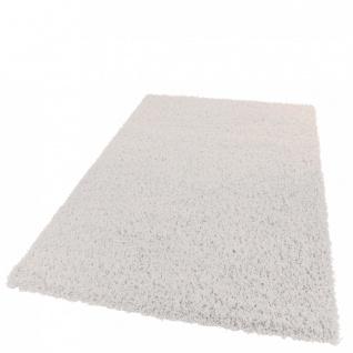 Teppich Hochflor Shaggy -Bravo- Uni Langflor Teppich Creme