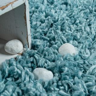 Hochflor Teppich Wohnzimmer Türkis Pastellfarben Rauten Fransen Weich Shaggy - Vorschau 3