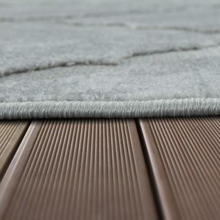 In- & Outdoor Terrassen Teppich Marmor Optik Rauten Muster In Grau - Vorschau 2