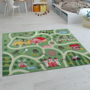 Kinder-Teppiche, Kurzflor-Teppiche für Kinderzimmer mit vers. Designs Spielteppiche Bunt