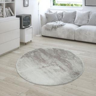 Teppich Wohnzimmer Kunstfell Plüsch Hochflor Shaggy Super Soft Waschbar In Beige - Vorschau 2