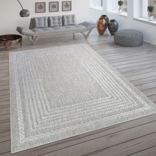 In- & Outdoor-Teppich, Flachgewebe Mit Skandi-Muster Und Sisal-Look In Cream