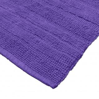Badematte Badteppich Badezimmerteppich aus Baumwolle Einfarbig in Lila - Vorschau 3