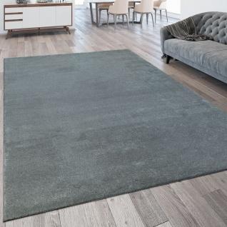 Wohnzimmer-Teppich, Kurzflor-Teppich Waschbar, Einfarbig In Silber Grau
