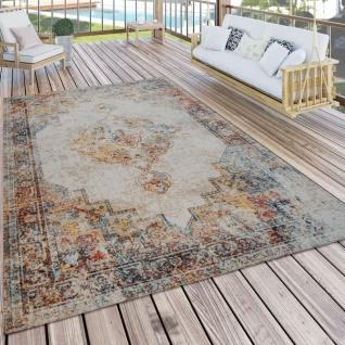 In- & Outdoor-Teppich Für Balkon Und Terrasse, Mit Orient-Muster, Bunt