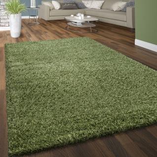 Hochflor Shaggy Teppich Kuschelig Weicher Langflor Moderne Uni Farben In Grün