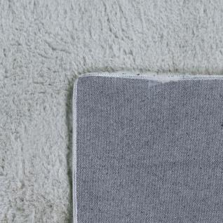 Teppich Wohnzimmer Kunstfell Plüsch Hochflor Shaggy Super Soft Waschbar In Grau - Vorschau 5