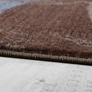 Designer Teppich Modern Kurzflor Wellen Optik Abstrakt Braun Beige Grau - Vorschau 2
