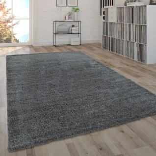 Hochflor-Teppich, Shaggy-Teppich, Moderner Wohnzimmer-Teppich In Grau