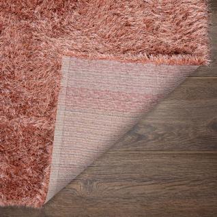 Hochflor-Teppich, Shaggy Für Wohnzimmer, Mit Glitzer-Garn, Braun Terrakotta - Vorschau 4