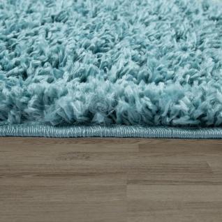 Hochflor Teppich Wohnzimmer Türkis Pastellfarben Rauten Fransen Weich Shaggy - Vorschau 2