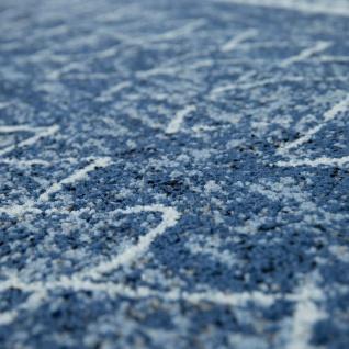Wohnzimmer Teppich Indigo Blau Trend Modernes Skandinavisches Muster - Vorschau 3
