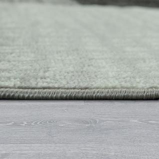 Designer Wohnzimmer Teppich Modern Kurzflor Karo Design Grau Schwarz Weiß - Vorschau 2