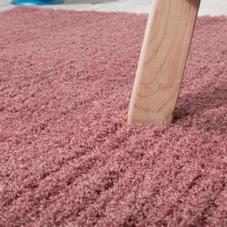 Shaggy Teppich Micro Polyester Wohnzimmer Teppiche Elegant Hochflor Pink - Vorschau 3