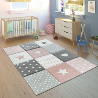 Kinderteppich Kinderzimmer Punkte Herzen Sterne Pastell versch. Farben u. Größen - Vorschau 2