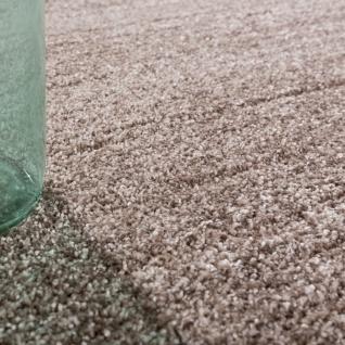 Designer Teppich Frieze Teppiche Luxuriös Schimmer Glanzeffekt In Uni Beige - Vorschau 3