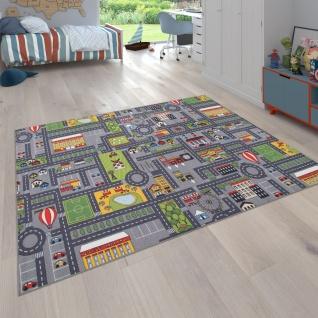 Spielteppich Kinderteppich Kinderzimmer Straßenteppich Mit Auto Motiv, In Grau