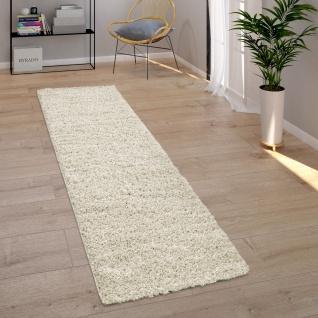 Teppich Wohnzimmer Hochflor Modernes Einfarbiges Design Unifarben Creme - Vorschau 4