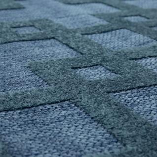 In- & Outdoor Terrassen Teppich Modernes Kreuz Muster In Blau - Vorschau 2