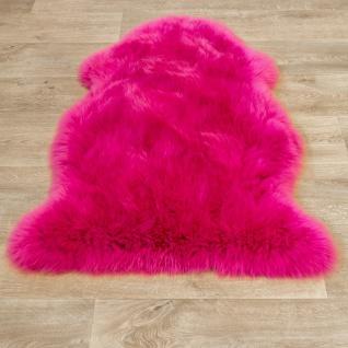 Australisches Lammfell Naturfell Bettvorleger Echtes Schaffell In Pink - Vorschau 4