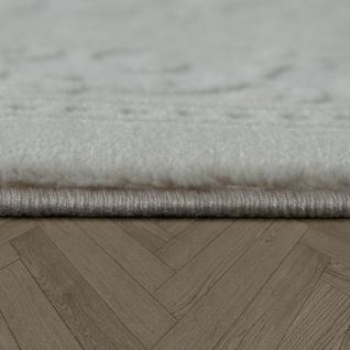 Vintage Polyacryl Teppich Bordüre Muster Hochwertig Klassisch Fransen Creme Weiß - Vorschau 2