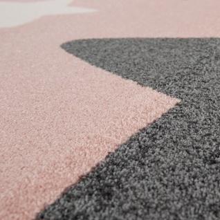 Teppich Kinderzimmer Kinderteppich Große Und Kleine Sterne In Rosa Grau - Vorschau 3