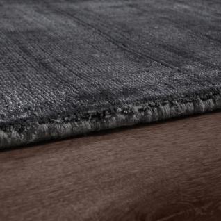 Teppich Handgefertigt Hochwertig 100 % Viskose Vintage Optisch Meliert Anthrazit - Vorschau 2